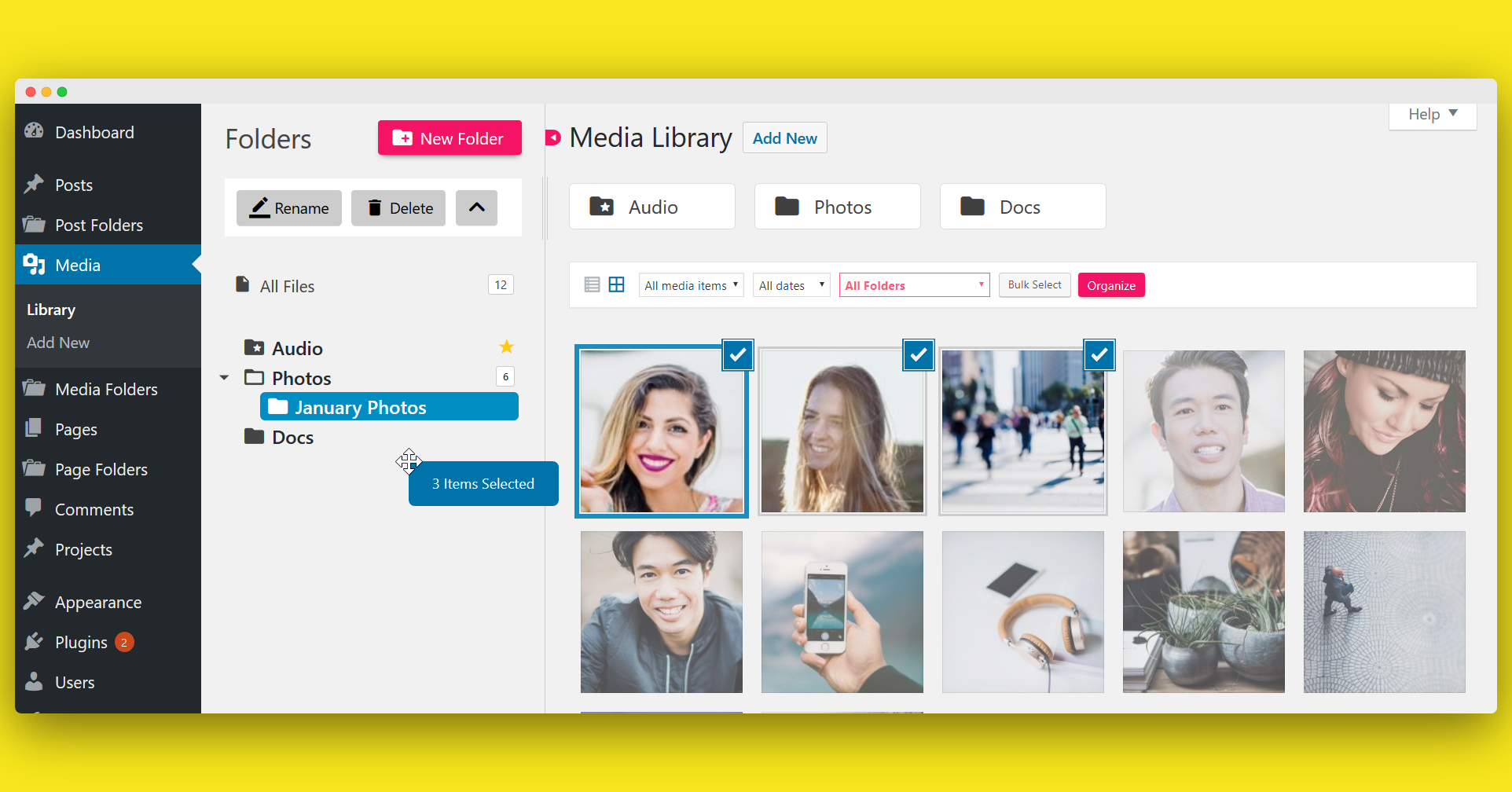 Folders – Organize Pages, Posts and Media Library Folders with Drag and Drop - 2
