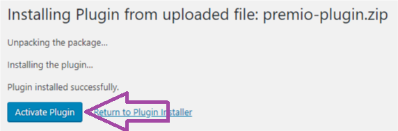 "Click on the ""Activate Plugin"" button"