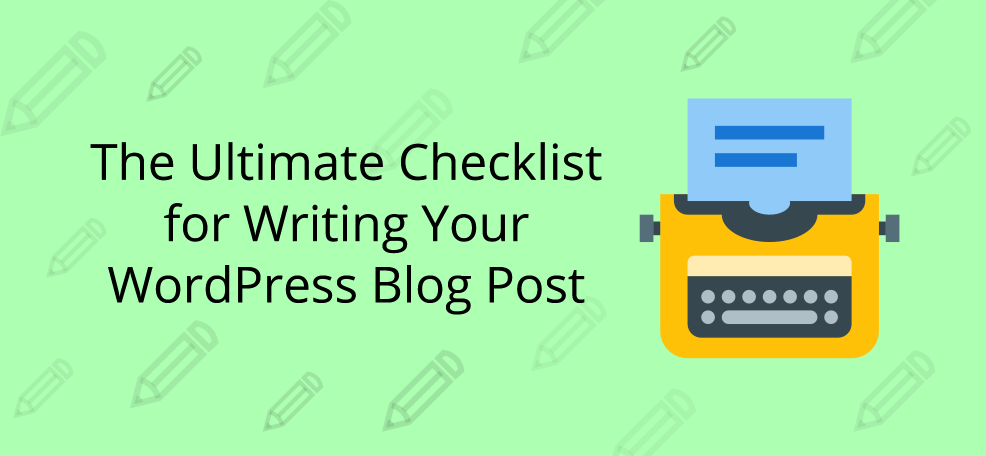 checklist for wp blog
